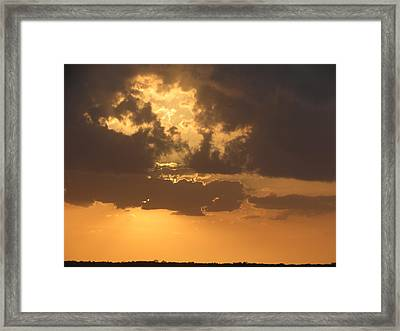Framed Print featuring the photograph Evening Over Lake George by Fortunate Findings Shirley Dickerson
