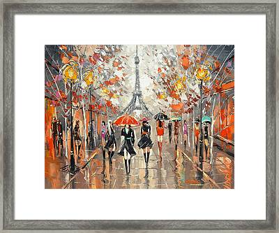 Evening. Paris Framed Print