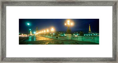 Evening Paris France Framed Print by Panoramic Images