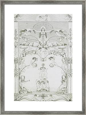 Evening Framed Print by Philipp Otto Runge