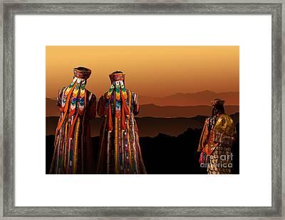 Framed Print featuring the digital art Evening Prayer by Angelika Drake