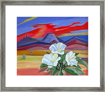 Framed Print featuring the painting Evening Primrose by Phyllis Kaltenbach