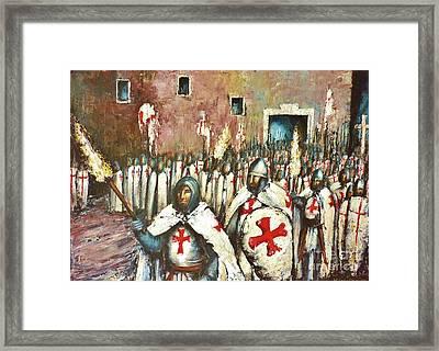 Templar Procession  Framed Print