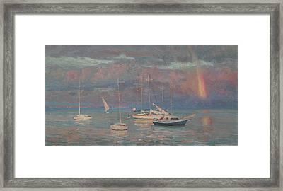 Evening Rainbow Framed Print by Korobkin Anatoly