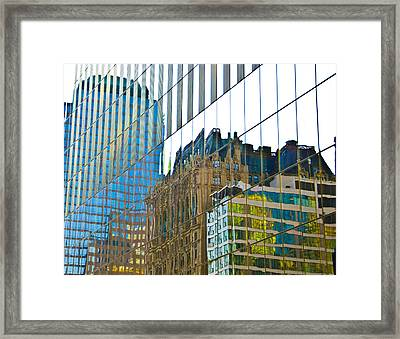 Evening Reflections Framed Print by Larry Goss