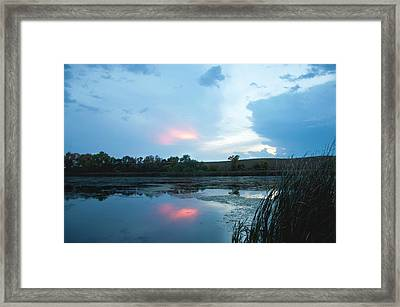 Evening Reflections On The Pond Framed Print