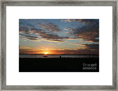 Evening Relaxation Framed Print by Laura Paine