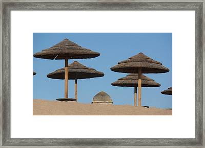 Evening Rooftops Framed Print