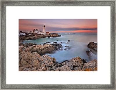 Evening Rush Framed Print
