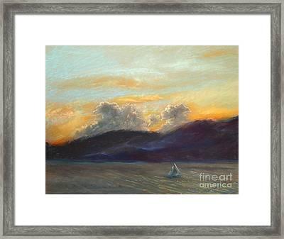 Evening Sail Framed Print by Addie Hocynec