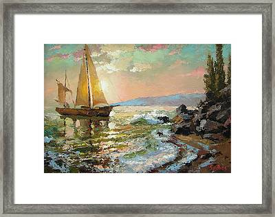 Evening Sail Framed Print by Dmitry Spiros