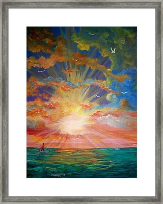Evening Sail II Framed Print