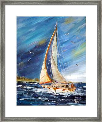Evening Sailing Framed Print
