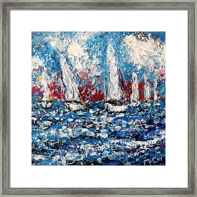 Evening Sailing Framed Print