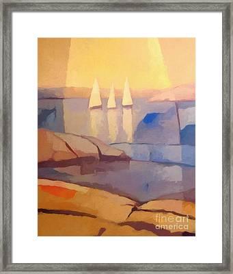 Evening Sails Framed Print