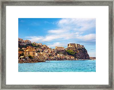 Evening Scilla Castle Framed Print by Gurgen Bakhshetsyan