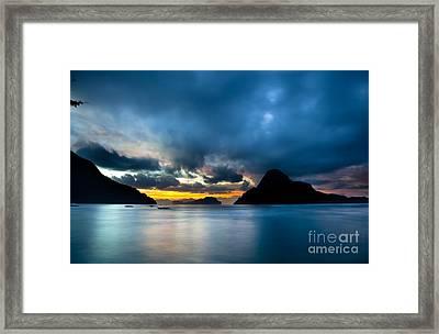 Evening Seascape On El Nido Palawan Philippines Framed Print by Fototrav Print