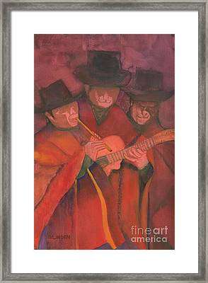 Framed Print featuring the painting Evening Serenade by Sandy Linden