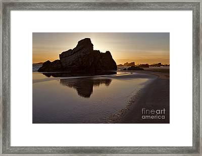 Evening Serenity - Oregon Framed Print by Sandra Bronstein