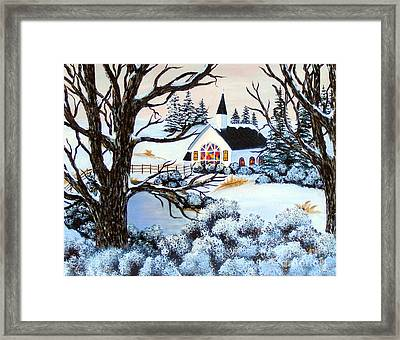 Framed Print featuring the painting Evening Services by Barbara Griffin