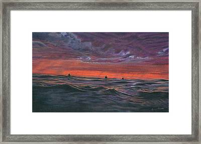Evening Session Framed Print by Jimmy Graves