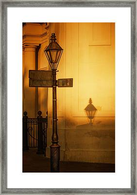 Evening Shadow In Jackson Square Framed Print by Brenda Bryant