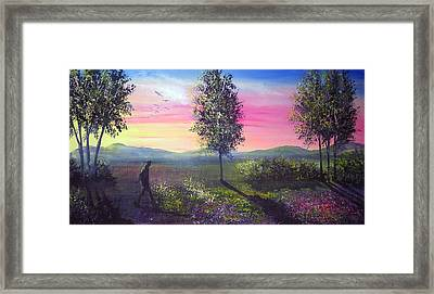 Evening Shadows Framed Print by Ann Marie Bone