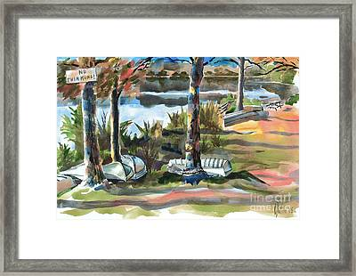 Evening Shadows At Shepherd Mountain Lake  No W101 Framed Print by Kip DeVore