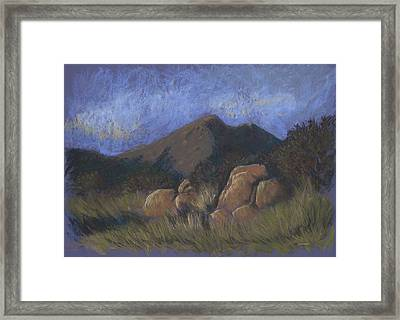 Evening Shadows Fall Framed Print