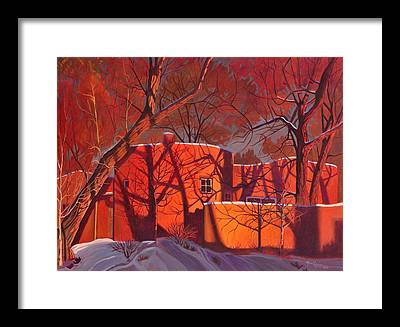 Dark Red Framed Prints