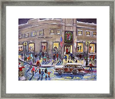 Evening Shopping At Grover Cronin Framed Print