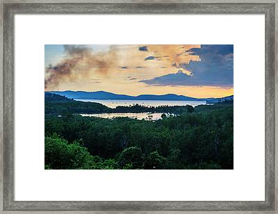 Evening Shot From The Lakes Framed Print by Michael Runkel