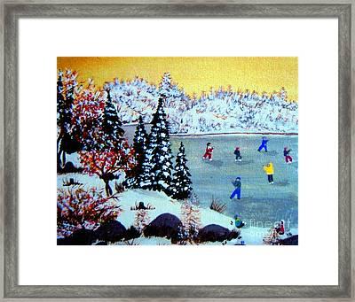Evening Skating Framed Print by Barbara Griffin