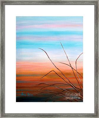 Evening Sky. Soul Collection Framed Print