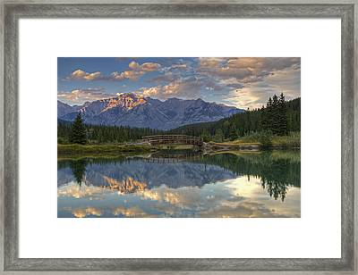 Evening Solitude At Cascade Ponds Framed Print