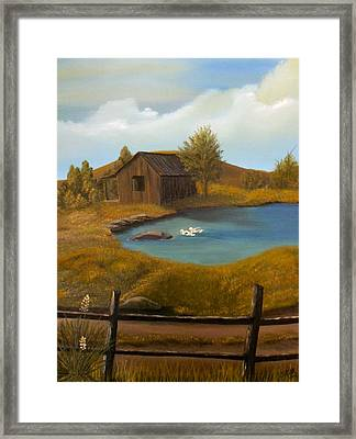 Evening Solitude Framed Print by Sheri Keith