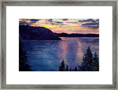 Evening Song Framed Print by Brenda Owen