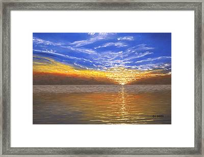 Evening Splash Framed Print