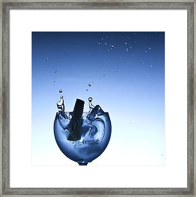 Evening Splash Framed Print by Michael Murphy