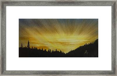 Evening Splendour Framed Print