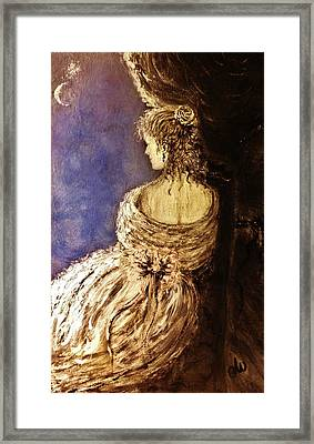 Framed Print featuring the painting Evening Star... by Cristina Mihailescu