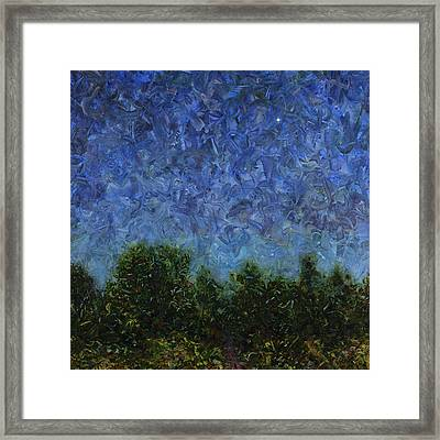 Evening Star - Square Framed Print by James W Johnson