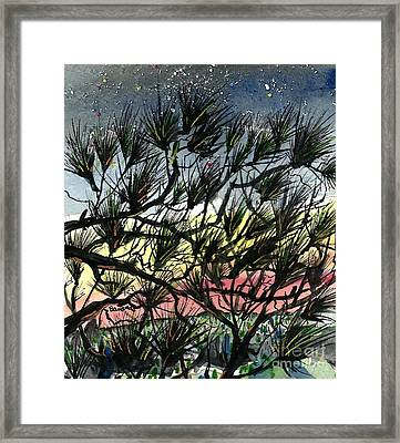 Evening Starlight Fantasy Framed Print