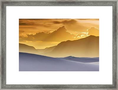 Evening Stillness - White Sands Sunset Framed Print