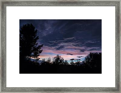 Evening Storm Framed Print by Maria Robinson