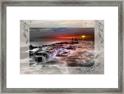 Evening Stroll At The Beach -featured In 'cards For All Occasions'comfortable Art'  'digital Veil Framed Print by EricaMaxine  Price
