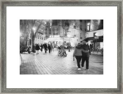 Evening Stroll In Paris Framed Print