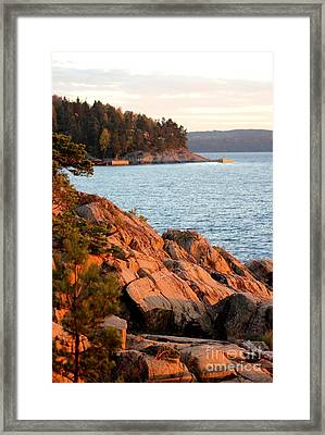 Evening Sun By The Waterfront Framed Print