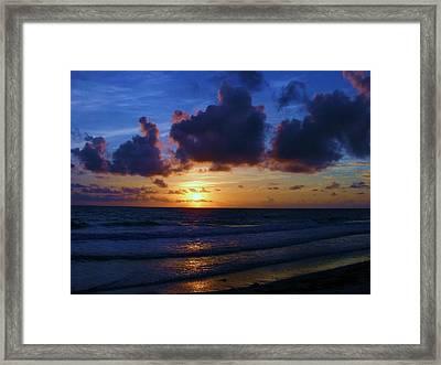 Framed Print featuring the photograph Evening Sun by James McAdams