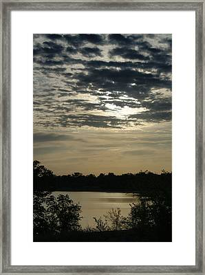 Framed Print featuring the photograph Evening Sunset by Roseann Errigo